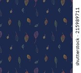 seamless pattern with leaves ... | Shutterstock .eps vector #215989711