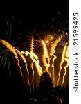 explosive fireworks shooting... | Shutterstock . vector #21599425