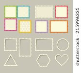 Set Of Stamps And Frames