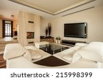 interior of living room with a... | Shutterstock . vector #215998399