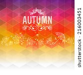 vector autumn background. hand... | Shutterstock .eps vector #216003451