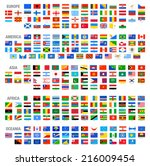 all vector world country flags... | Shutterstock .eps vector #216009454