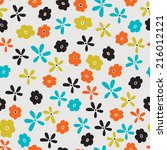 vintage floral seamless pattern | Shutterstock .eps vector #216012121