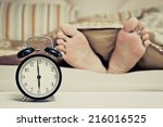 sleeping asian young male... | Shutterstock . vector #216016525