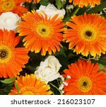 bright bunch of flowers. | Shutterstock . vector #216023107
