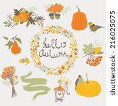 hello autumn | Shutterstock .eps vector #216025075