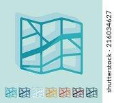 it is a flat design in modern... | Shutterstock . vector #216034627
