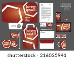 corporate identity template.... | Shutterstock .eps vector #216035941