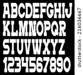 white alphabet letters and... | Shutterstock .eps vector #216036667