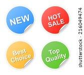 set of shopping labels. 2d... | Shutterstock . vector #216049474