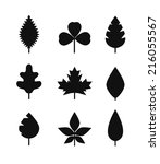 Different Leaf Silhouettes...