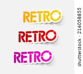 realistic design element  retro | Shutterstock . vector #216058855