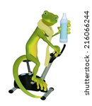 gecko cardio training | Shutterstock . vector #216066244