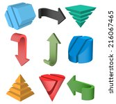 set of 3d geometric shapes and...   Shutterstock .eps vector #216067465