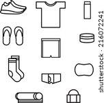 running stuff icons set | Shutterstock .eps vector #216072241