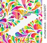 abstract colorful arc drop... | Shutterstock . vector #216076057