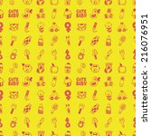 seamless doodle baby pattern | Shutterstock .eps vector #216076951