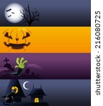 Halloween Cartoon Banner Spook...