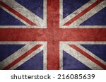 United Kingdom Uk Flag On The...