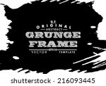 abstract grunge photo frame.... | Shutterstock .eps vector #216093445