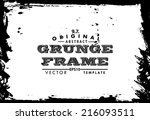 abstract grunge photo frame.... | Shutterstock .eps vector #216093511