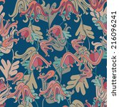 seamless elegant pattern with... | Shutterstock .eps vector #216096241