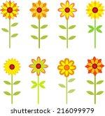 sunflowers  fall flowers ...   Shutterstock .eps vector #216099979