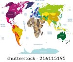 world map   Shutterstock .eps vector #216115195