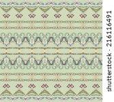 set of seamless ornamental ... | Shutterstock .eps vector #216116491
