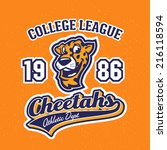 vintage cheetahs textured...   Shutterstock .eps vector #216118594