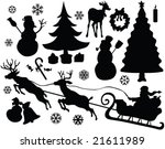 christmas elements collection   ... | Shutterstock .eps vector #21611989
