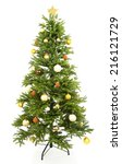 decorated christmas tree... | Shutterstock . vector #216121729