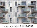 fragment of a facade of a... | Shutterstock . vector #216124039