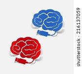 realistic design element  brain ... | Shutterstock .eps vector #216137059
