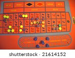 casino roulette table with... | Shutterstock . vector #21614152