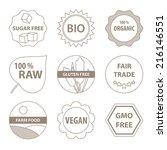 vector bio and healthy food...   Shutterstock .eps vector #216146551