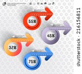 abstract 3d paper infographics | Shutterstock .eps vector #216156811
