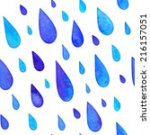 watercolor painted rain drops... | Shutterstock .eps vector #216157051