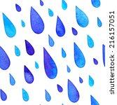 watercolor painted rain drops... | Shutterstock .eps vector #216157051