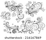 ornate stars | Shutterstock .eps vector #216167869
