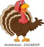 cartoon turkey presenting | Shutterstock . vector #216168529