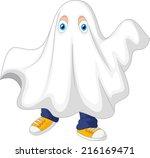 Cute Kid In A Ghost Costume...