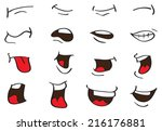 vector illustration of cartoon... | Shutterstock .eps vector #216176881