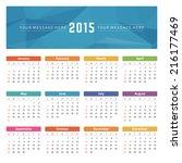 calendar 2015 year vector... | Shutterstock .eps vector #216177469