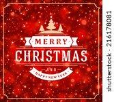 christmas light vector... | Shutterstock .eps vector #216178081