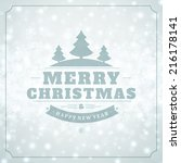 christmas light vector... | Shutterstock .eps vector #216178141