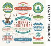christmas decoration vector... | Shutterstock .eps vector #216179365