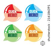 click here colorful round and... | Shutterstock .eps vector #216186391