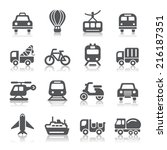 transportation icons | Shutterstock .eps vector #216187351