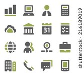 business web icons set | Shutterstock .eps vector #216189019